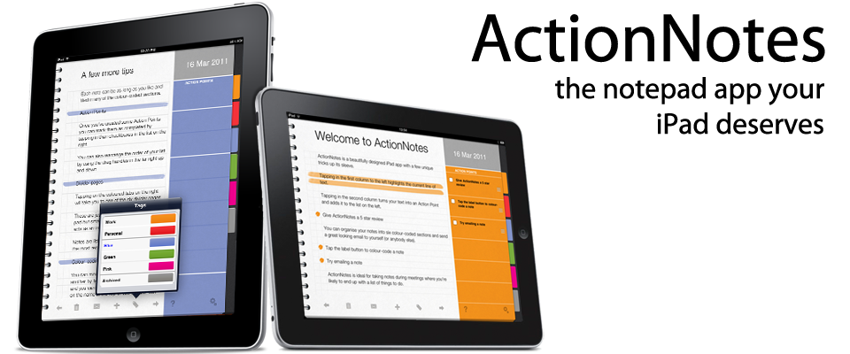 ActionNotes - the notepad app for iPad deserves